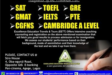 Toefl Exam Registration In Nigeria- Register For Toefl