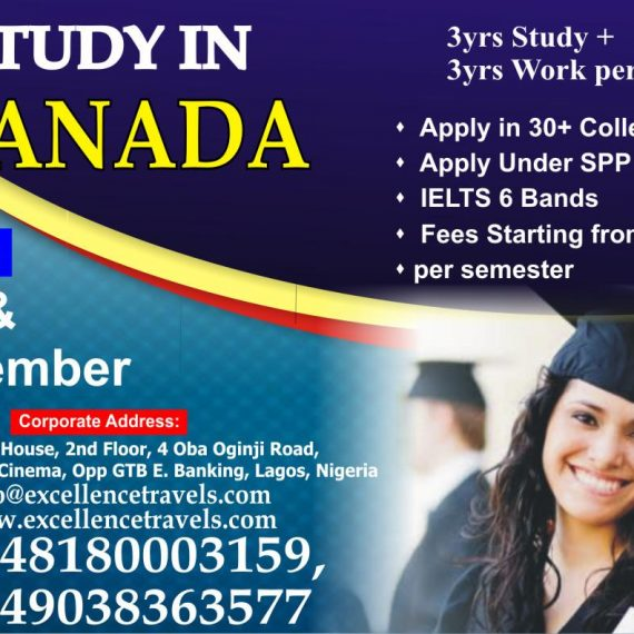 Study In Canada-Bachelor, Masters & Phd In All Courses